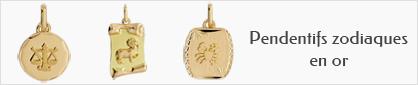 collections de pendentifs zodiaques en or pour enfants