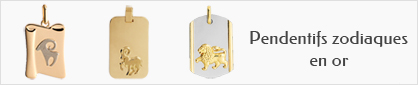 collections de pendentifs zodiaques en or pour hommes