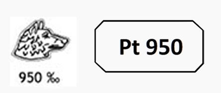 poinçon bijoux en platine 950